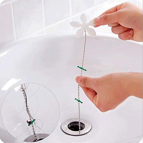 FSHB 5pcs Abflussrohr Perücke entfernen Verstopfungswerkzeug Bad Haar Kanalisation Küchenspüle Anti-Verstopfung Boden Toilette Reinigungsfilter