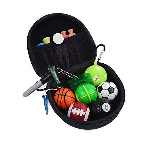 letsgood Golfer's Golf Accessories Gift Set - Include Golf Balls, Divot Tool Repair, Ball Marker, Ball Tees, Club Groove Cleaner, Golf Pouch - Golfing Accessories Gift for Men Women