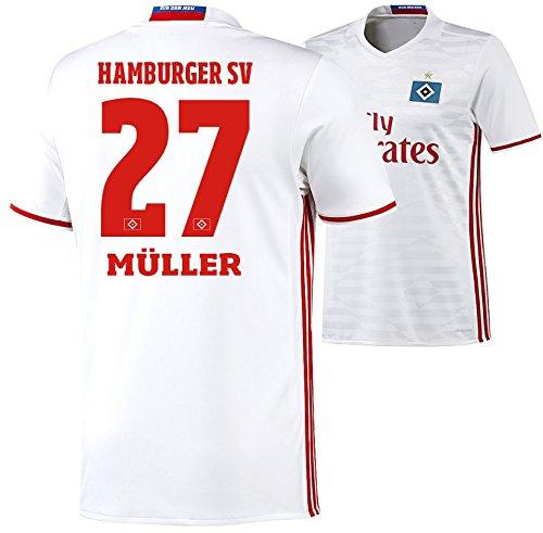 adidas Trikot Hamburger SV 2016-2017 Home (Müller 27, M)