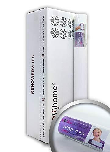 Vliesbehang overschilderbaar 120 g Profhome HomeVlies 399-124 glad onderbehang renovlies voor wand en plafond | 6 rollen 150 m2