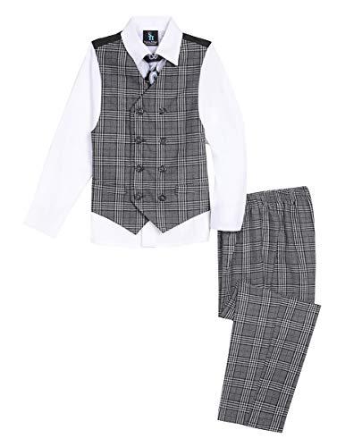 Steve Harvey Toddler Boys' Four Piece Vest Set, Jet Black, 3T