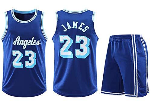Conjuntos de Jersey de Baloncesto, NBA Lakers # 23 Lebron James Adultos Niños Unisex Competición Deporte Uniforme Uniforme Ropa Sportswear,XL