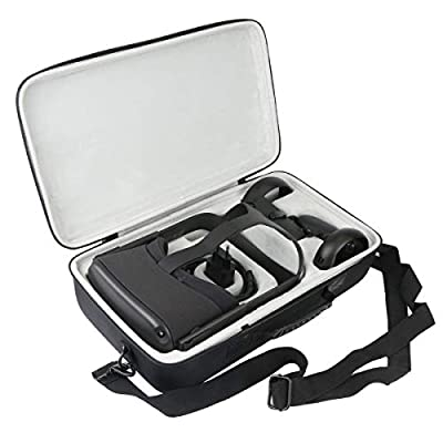 Khanka Hard Travel Case Replacement for Oculus Quest All-in-one VR Gaming Headset (Inside White) from khanka