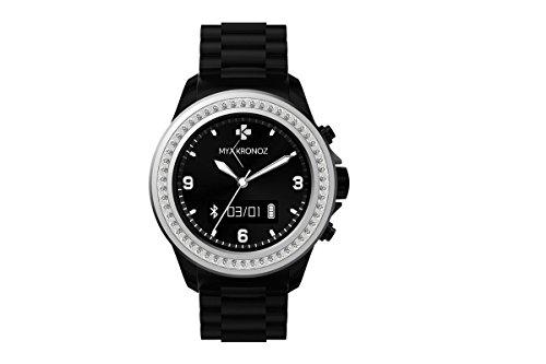 MyKronoz KRZECLOCK-Black-Swarovski Smartuhr (Schrittzähler, Bluetooth) schwarz