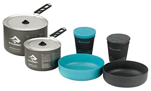 Sea to Summit Alpha - Juego de 2 Tazas de Cocina (2,7 L, 1,2 L), Color Gris