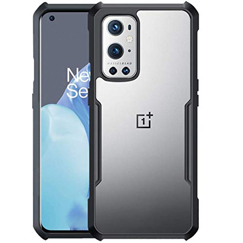 Riggear Xundd Back Cover Case for OnePlus 9 Pro/One Plus 9 Pro (Armor|PC and TPU|Black|Clear)