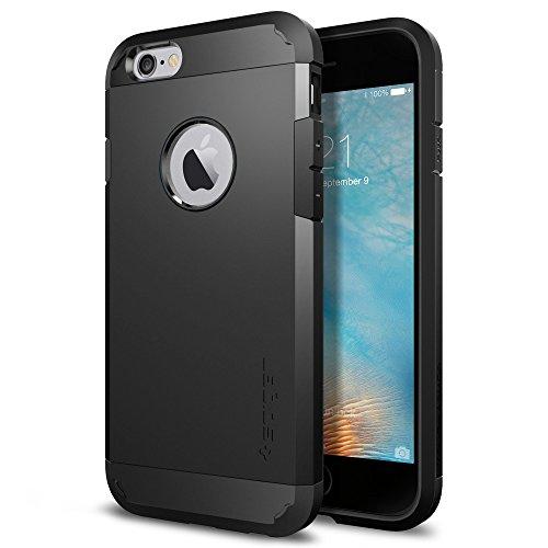 Spigen Tough Armor Hülle Kompatibel mit iPhone 6s und Kompatibel mit iPhone 6 -Schwarz
