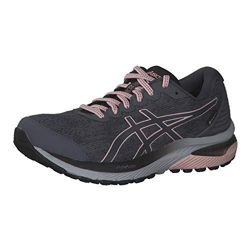 ASICS Women's Gel-Cumulus 22 G-TX Trail Running Shoe, Carrier Grey/Ginger Peach, 6.5 UK