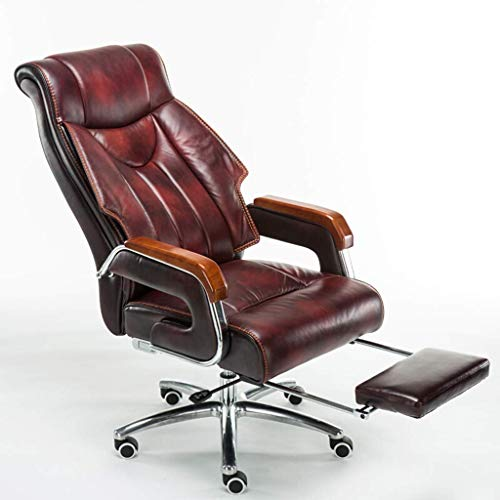 N/Z Tägliche Gerätestühle Computerstuhl mit hoher Rückenlehne Ergonomisches Design Verstellbare Sitzhöhe 360 Grad drehbares Leder