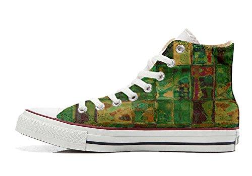 Unbekannt Sneaker All American USA - Base Type Star Unisex - Print Vintage 1200dpi - Italian Style - personalisierte Schuhe (Handwerk Produkt) Design Texture Size 32 EU