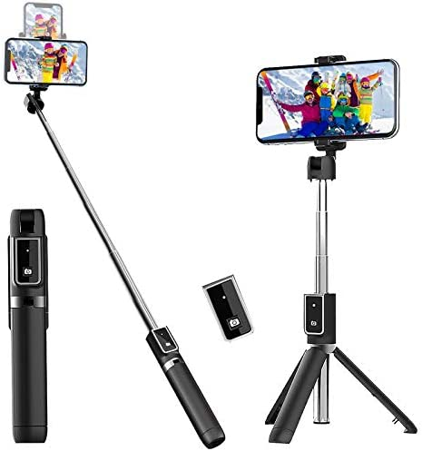 Selfie Stick Tripod Extendable Selfie Stick with Detachable Wireless Remote and Tripod Stand product image
