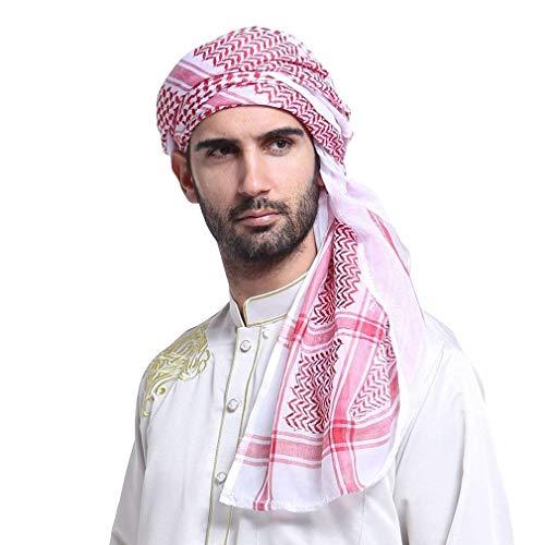 BoBoLily Hombres Musulmán Bufanda Chal Turbante Estilo Clásico Etno Especial Estilo Estilo Árabe Tocado