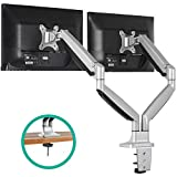 EleTab Dual Monitor Mount Stand Full Motion Swivel Gas Spring LCD Arm Fits for 2 Computer Screens 13 to 32...