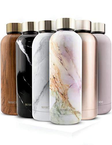 MAMEIDO Trinkflasche Edelstahl - Mauve Violett - 500ml,0,5lThermosflasche - auslaufsicher, BPA frei -schlankeisolierte Wasserflasche,leichtedoppelwandige Isolierflasche