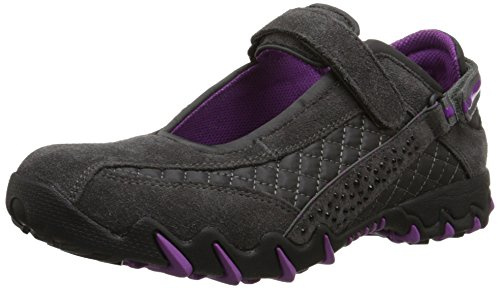 ALLROUNDER by MEPHISTO Women's Niro Diamonds Mary Jane Flat, Graphite Suede/Wela Mesh, 7.5 M US