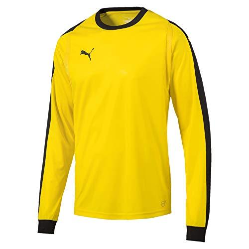 PUMA Men's Liga Goalkeeper Jersey, Cyber Yellowpuma Black, S