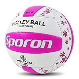 Weryffe - Pelota de voleibol hinchable para adultos y niños, color Rosa y blanco, tamaño als die Beschreibung