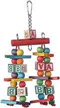لعبة كاتيز للطيور المزودة بالحروف الأبجدية، 25.4 سم × 12.7 سم، مقاس متوسط، مقدمة من سوبر بيرد كرياشنز