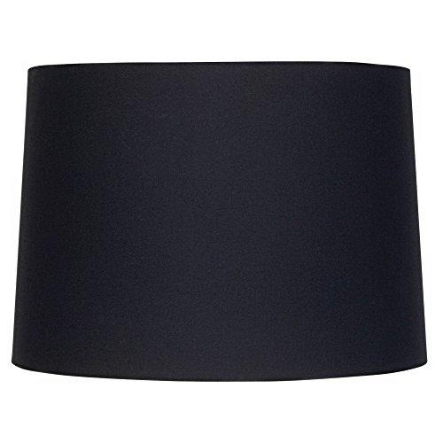 Black Fabric Drum Shade 11x12x8.5 (Spider) - Brentwood