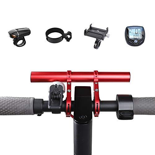 Atuka TOMALL Manillar Extensor Bicicleta Extensión Barra de Soporte de aleación de Aluminio Red Space Saver para XIAOMI M365, Ninebot ES1 ES2, Bicicleta de montaña