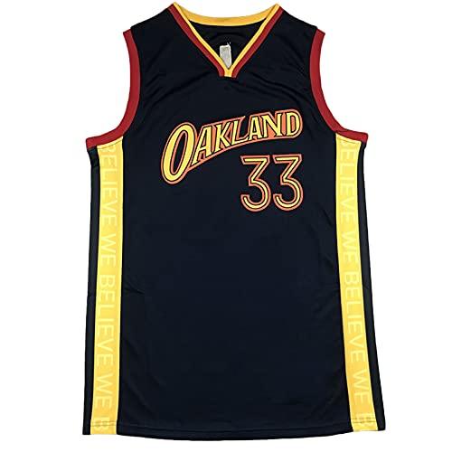 YYDS Wseman # 33 Camiseta de Baloncesto, Jersey para Hombre, 98% algodón Negro Swingman Jersey, Deporte cómodo L