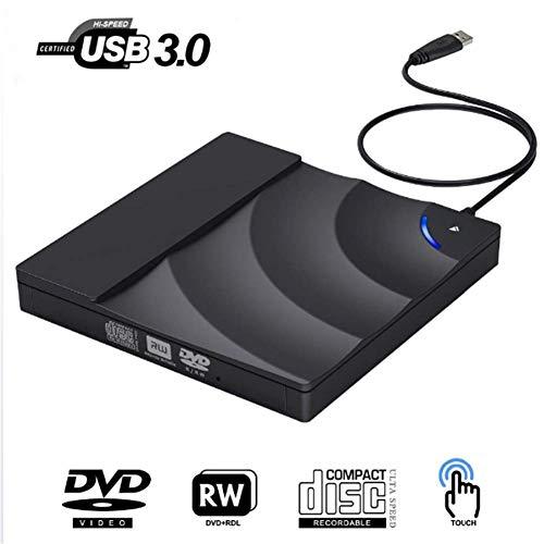 External CD-ROM Drive, USB 3.0 CD DVD Drive for Laptop Desktop for Windows Printer Desktop Bluetooth Stand Disc The Dvds Drives