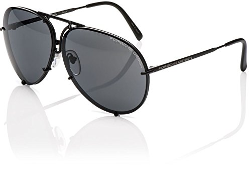 Porsche Design P'8478 P8478 D 66mm Gunmetal Aviator Sunglasses W/Extra Lenses