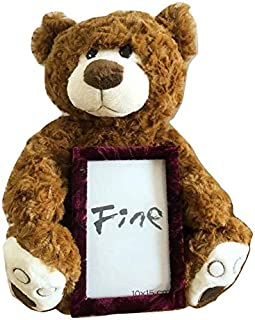12 Inch Super Soft Plush Brown Teddy Bear with Picture Frame 4x6