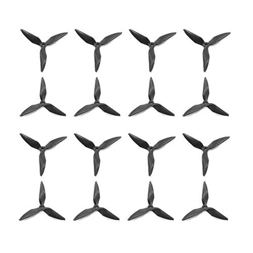 TCMMRC 12pcs 5051 5inch High-Speed Composite 3-Blade Propeller for RC FPV Drone Quadcopter (Black)