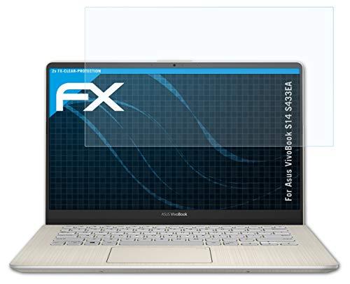 atFolix Schutzfolie kompatibel mit Asus VivoBook S14 S433EA Folie, ultraklare FX Bildschirmschutzfolie (2X)