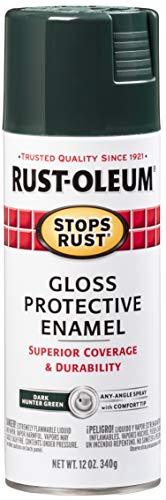 Rust-Oleum 7733830 Stops Rust Spray Paint, 12-Ounce, Gloss Dark Hunter