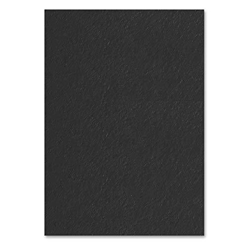 100 Blatt, A4 120 g/m² Tonpapier Farbige Papier - Schwarz