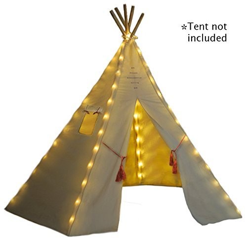 Natures Blossom Fairy Lights for Kids Teepee Tents, Battery Operated. Set of 5 LED Strings. Universal Design Fits Most Kids Indoor Tipi Playhouses. Teepee Tent is Not Included with The Light Set.
