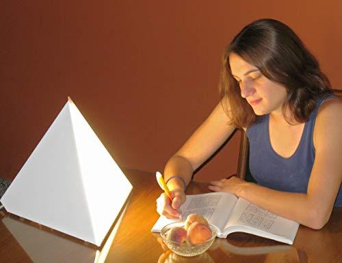 Luxor 10,000 Lux Bright Light Therapy Pyramid Lamp, White