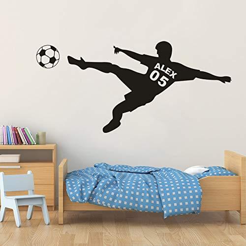 Sanzangtang gepersonaliseerd voetbal, jongens, naam, muurtattoo, voetbal