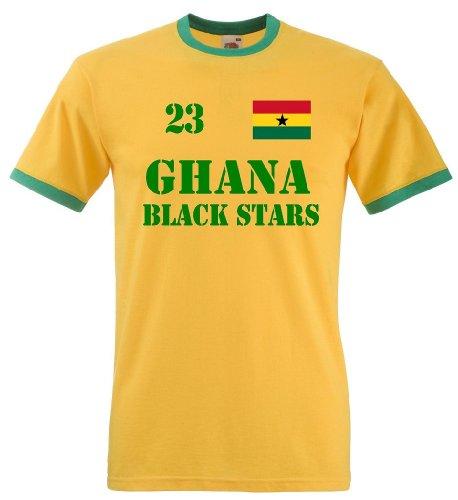 Ghana Black Stars Herren T-Shirt Retro Trikot Nr.23|M