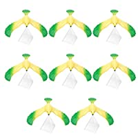Tomaibaby 8個プラスチックバランスイーグルおもちゃクリアトライアングルスタンド重力鳥おもちゃ子供理学科学教育玩具