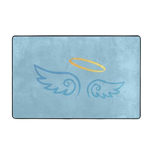 Alfombras de área, alfombras Antideslizantes de ángel, alfombras de decoración para el hogar, Alfombra de 60 x 39 Pulgadas para Sala de Estar, Sala de Juegos