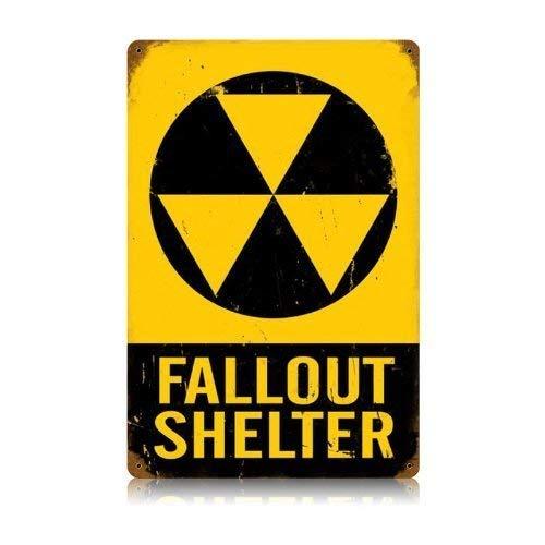 EpochSign Blechschild Fallout Shelter Blechschild 20,3 x 30,5 cm
