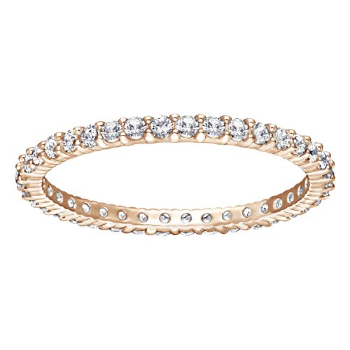 Swarovski Women's Vittore Ring, White Crystals with Gold-Tone PVD Plated Band, Size 7, Part of the Swarovski Vittore Collection