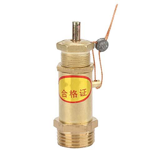 Veiligheidsklep, G1/2 luchtcompressor Veiligheidsklep, Drukontlastklep voor ketelstoomgenerator, Geschikt voor een verscheidenheid aan stoomgeneratoren of elektrische boilers(4KG)