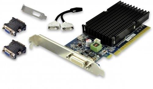 PNY VCG84DMS1D3SXPB-CG GeForce 8400 GS 1GB GDDR3 - Tarjeta gráfica (GeForce 8400 GS, 1 GB, GDDR3, 64 bit, 2048 x 1536 Pixeles, PCI Express 2.0)