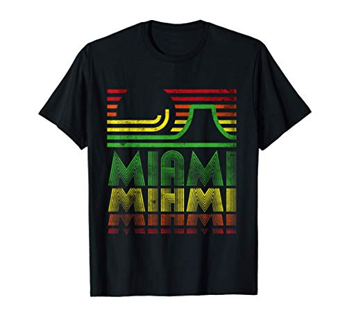 Vintage Retro Miami Novelty Graphic T-Shirts & Cool Designs Camiseta
