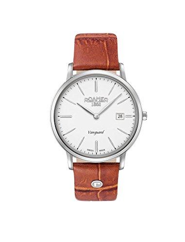 Roamer Herren Datum klassisch Quarz Uhr mit Leder Armband 979809 41 25 09