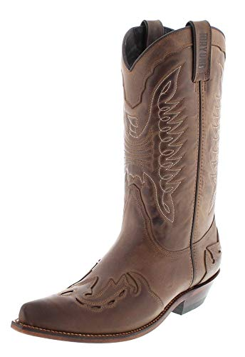 Mayura Boots Unisex Cowboy Stiefel MB017 Westernstiefel Lederstiefel Braun 43 EU