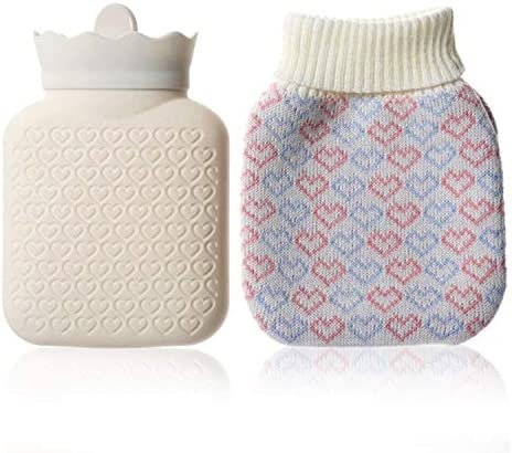 Microwave Heating Face Silicone Mini Hot Water Bottle Bag with Knit Cover Hot Cold Therapies product image
