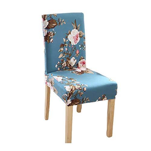 MABES WAREHOUSE Beautiful Home - Funda elástica para silla (solo cubierta), fundas elásticas para silla de hogar, fundas decorativas universales para banquetes (A-Rose)