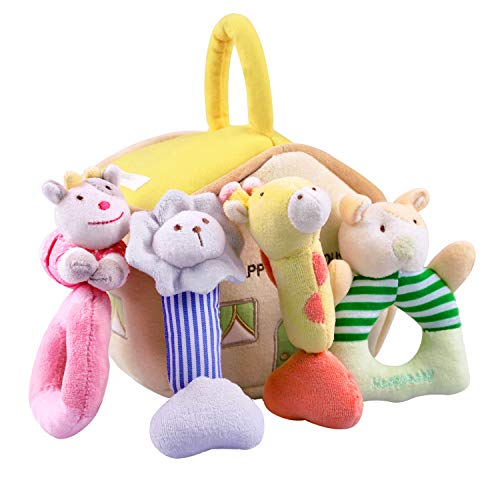 iPlay, iLearn 4 Plush Baby Soft Rattle...