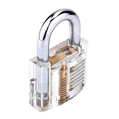 Loboo Idea Transparentes Vorhängeschloss, 50 mm Trainingsschloss, professioneller Cutaway Innenansicht des Trainings Schlüssel, Vorhängeschlösser mit 2 Schlüsseln
