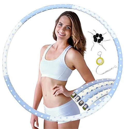 BROADREAM Hula Hoop, Abnehmbarer Hula Hoop Reifen Erwachsene zur Gewichtsreduktion und Massage, 6 Segmente Abnehmbarer Hoola Hoop Reifen Geeignet Für Fitness/Sport/Zuhause/BüRo/Bauchformung. (BW)